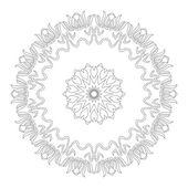 Vektorové krásný Deco černé Mandala — Stock vektor