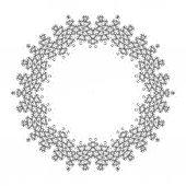 Vektor vackra Deco svart Mandala. — Stockvektor