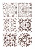 Henna tattoo doodle vector elements — Stock Vector