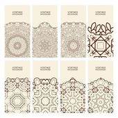 Cards. Vintage decorative elements. — Stock Vector