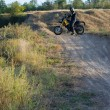 Rider on sport bike for enduro on motocross track — Stock Photo #53876277