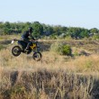 Rider on sport bike for enduro on motocross track — Stock Photo #53876385
