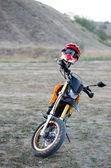 Sport bike for enduro on motocross track — Stock Photo