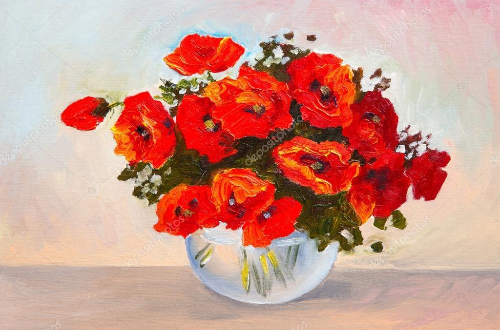 214 Lgem 228 Lde Stilleben Ein Blumenstrau 223 In Einer Vase Bunte