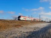 Zima pociąg — Zdjęcie stockowe