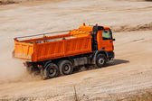 Camion arancione — Foto Stock