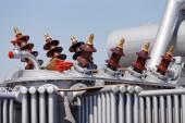 New high voltage transformer — Stock Photo