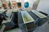 Manufacturing transformer — Stockfoto