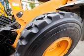 Tractor wheel and tire — Foto de Stock