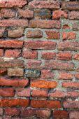 Orange old brick wall — Stock Photo