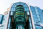 Reflections on glass facade — Stock Photo