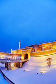 Belgrade fortress and Kalemegdan park with snow — Stock Photo
