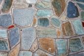 Mediterranean style stone wall — Stock Photo