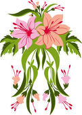 Bouquet of lilies. — Stock Vector