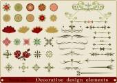 Decorative design elements. — Stock Vector