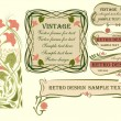 Set of vector frames and design elements in art Nouveau style. — Vector de stock  #69657359