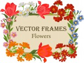 Vector vintage frame with bright colors. — Stockvector