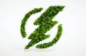 Ecology flash symbol — Stock Photo