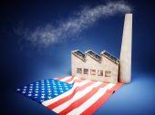 US industry development — Stock Photo