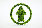 Eco up arrow icon — Stock Photo