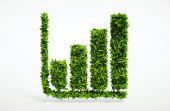 Ecology bar chart — Stock Photo