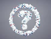 Pharmaceutical question mark — Stockfoto