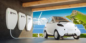 Home wall battery concept — Stock Photo