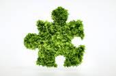 Eco puzzle sign — Stock Photo