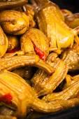 Eggplants in marinade — Stock Photo