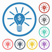 Bulb dollar sign icon — 图库矢量图片