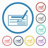 Cheque icon — Stock Vector