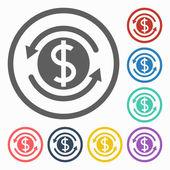 Money convert icon — Stock Vector
