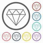 Diamond icon — Cтоковый вектор
