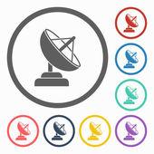 Satellite dish icon — Stock Vector