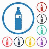 символ бутылки с водой — Cтоковый вектор