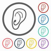 Ear icon — Stock Vector