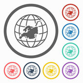 Europe continent icon — Stock Vector