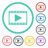 Filmstrip icon — Stock Vector
