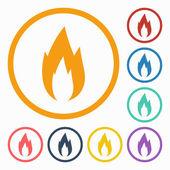 Fire icon — Stock Vector