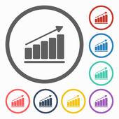 Grow graph icon — Stock Vector