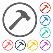 Hammer icon — Stock Vector