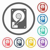 Harddisk icon — Stock Vector