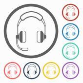 Headset icon — Stock Vector