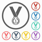 Medal icon — Stock Vector