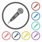Mikrofonsymbol — Stockvektor