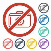 No photo icon — Vector de stock