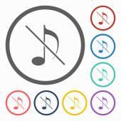 No music icon — Stock Vector