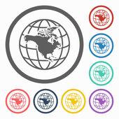 North america continent icon — Stock Vector