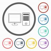 Computer desktop icon — 图库矢量图片