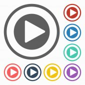 Play button icon — Stock Vector